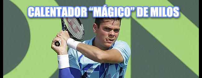 Raonic pone de moda en el tenis el calentador de brazo