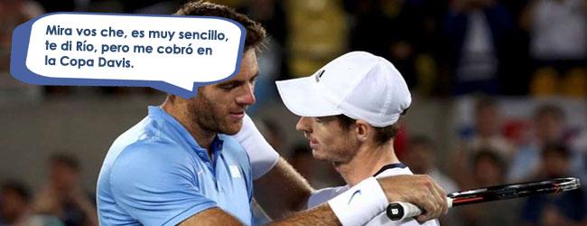 """Juan Martín Del Potro """"negocia"""" con Andy Murray"""
