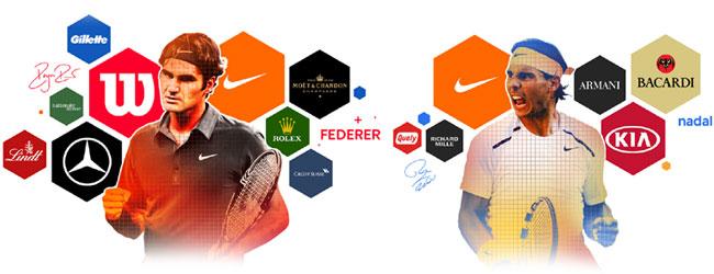 Federer vs. Nadal en patrocinios