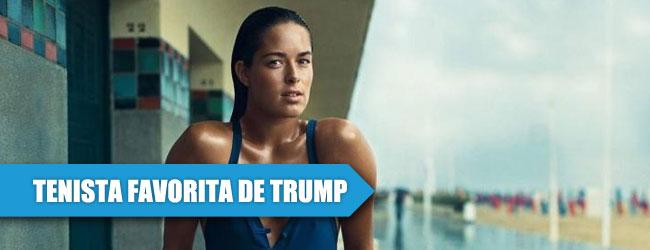 """Ivanovic, """"la mujer más hermosa"""" para Trump"""