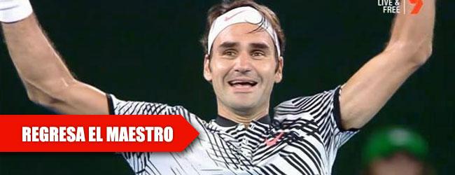 Federer llega a la mayoría de edad en Grand Slams