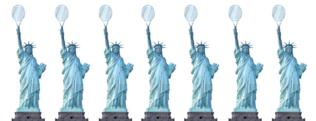 Statue of Liberty with Tennis Racquet