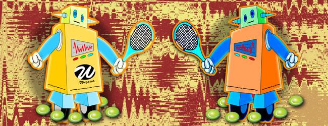 Tennis Robot with Racquet